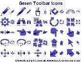 Green Toolbar Icons Screenshot