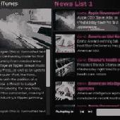 HTML/XML AutoPlay News List AS2 Screenshot