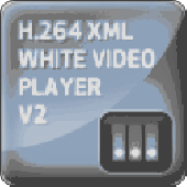 Screenshot of H.264 XML White Video Player V2
