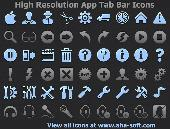 High Resolution App Tab Bar Icons Screenshot