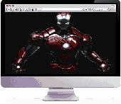 IRONMAN Screensaver Screenshot