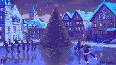 Ice Christmas Rink Live Wallpaper Screenshot