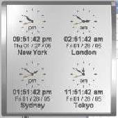 Kybtec World Clock Professional Screenshot