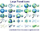 Large Travel Icons Screenshot