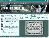 Screenshot of Last Name Almanac