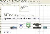 Screenshot of MTools Excel Addin