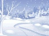 Morning Snowfall Screensaver Screenshot
