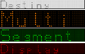 Multi Segment Display JS Widget Screenshot