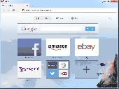 Screenshot of Opera browser