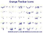Orange Toolbar Icons Screenshot