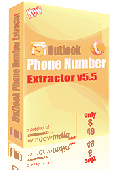 Outlook Phone Number Extractor Screenshot
