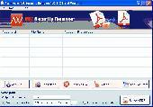 Pdf encryption security remover Screenshot