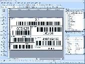Screenshot of PrintShop Variable Barcode Label Printing Software