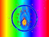 Rainbow Clock ScreenSaver Screenshot