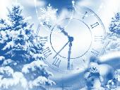 Snowfall Clock Screensaver Screenshot