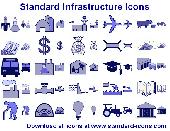 Standard Infrastructure Icons Screenshot