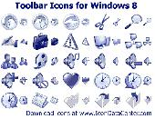 Screenshot of Toolbar Icons for Windows 8