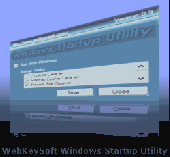 Screenshot of WebKeySoft Windows Startup Utility