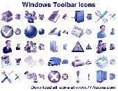 Screenshot of Windows Toolbar Icons