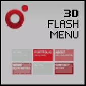 XML Driven 3D Flash Menu (Papervision3D) Screenshot