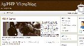 ApPHP MicroBlog - web blog PHP script Screenshot