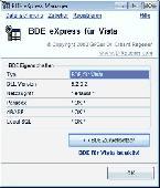 BDE eXpress for Vista Screenshot