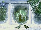 Screenshot of Christmas Candles Screensaver