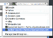 Famous Quote Search for FireFox/Chrome/IE Screenshot