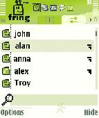 Screenshot of fring for Symbian
