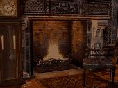 Gothic Fireplace - Animated Wallpaper Screenshot