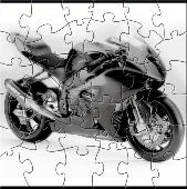 Grey Motorcycle Puzzle Screenshot