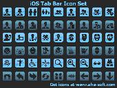 Screenshot of iOS Tab Bar Icon Set