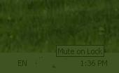 Screenshot of Mute on Lock