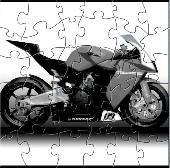 Orange Motorcycle Puzzle Screenshot