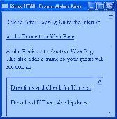 Screenshot of Ricks FREE Web Page Frame and Redirect M