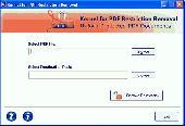 Unprotect PDF File Screenshot